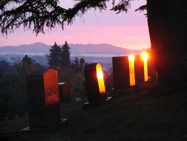 Gravestones at Sunset