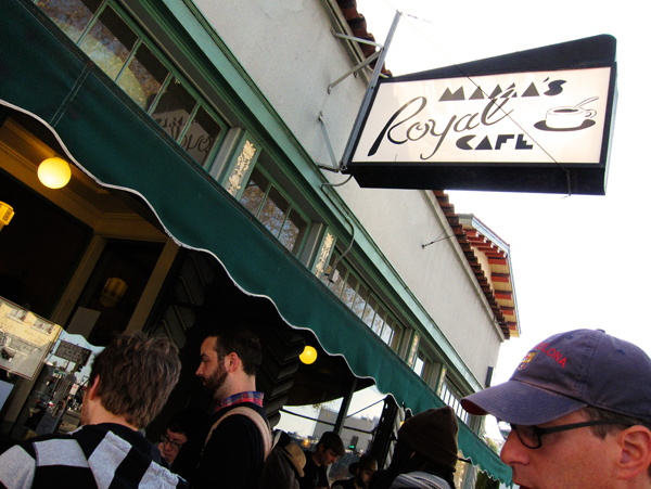 outside Mama's Royal Cafe