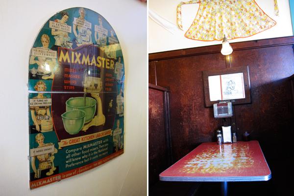 mama's royal cafe, mixmaster vintage advertisement