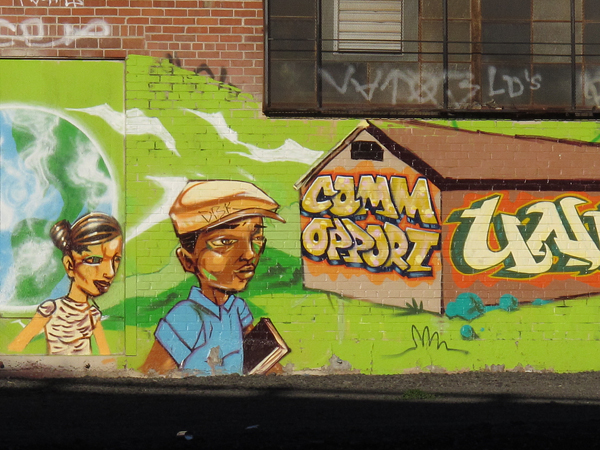 graffiti art by train tracks, oakland graffiti art,  community opportunity