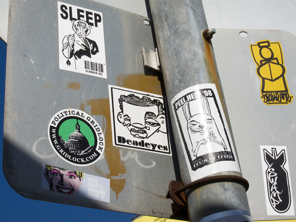 sticker art by crude, dead eyes stickers