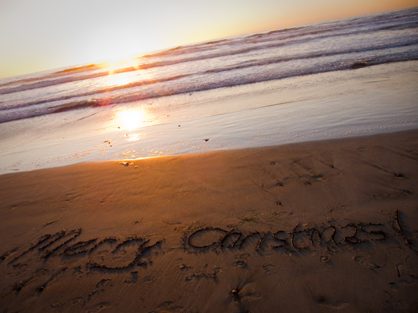 san diego, merry christmas, beach sunset
