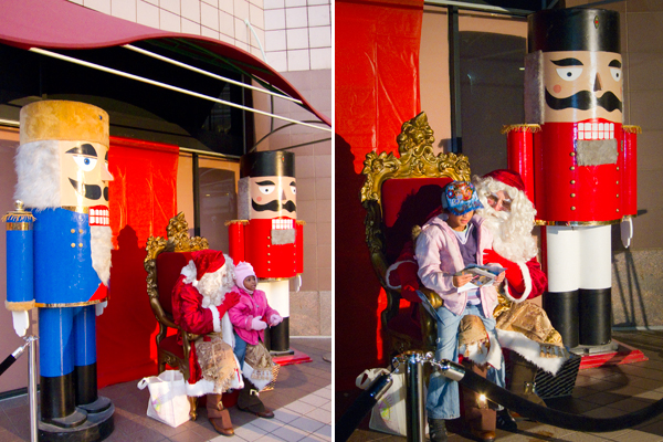 santa, oakland city center, santa at city center