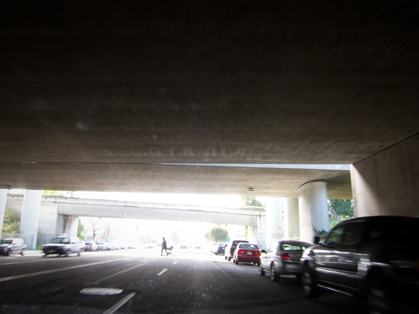 macarthur maze, freeway underpass, under the maze