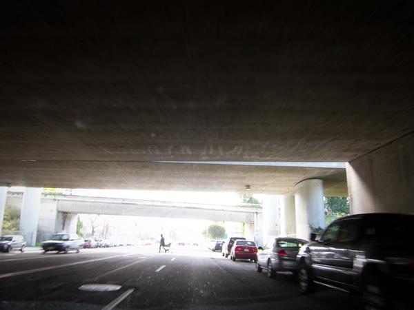 macarthur maze, freeway underpass, under the maze