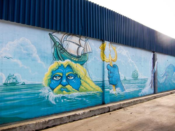 poseidon mural, bode mural, oakland mural art, west oakland murals