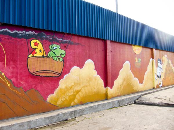 bode mural, murals on peralta, west oakland murals, mural art oakland