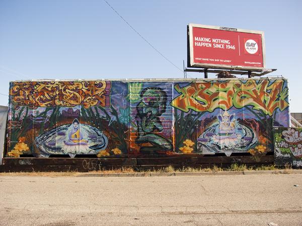 oakland mural art, CRP mural, mural on mandela parkway, buddha mural, ganesh mural