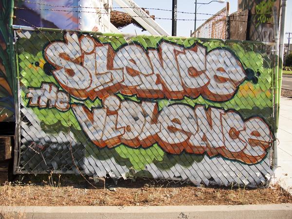 silence the violence, mural art oakland, mural on mandela