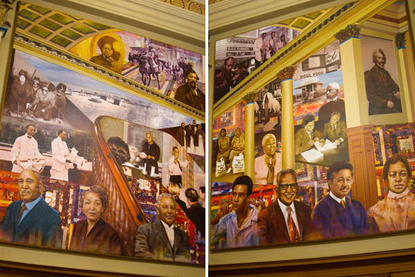 African american museum library oaktown art oakland for Black history mural
