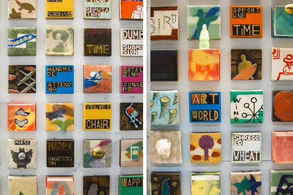 3 inch tiles, 3 inch paintings, gateway, art installation at SFO, ik-joong kang