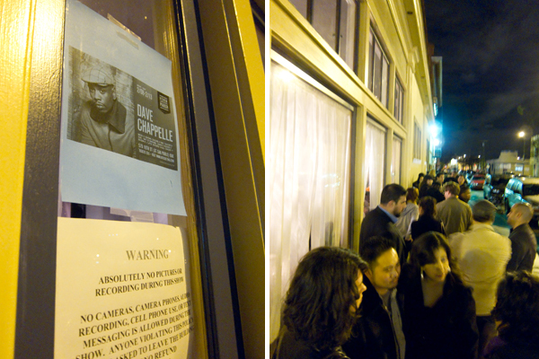 waiting in line, dave chappelle, new parish