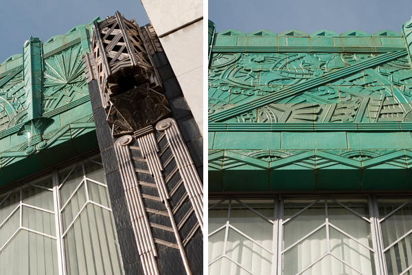 terra cotta ornamentation, art deco buildings oakland