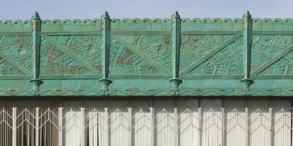 Mary Bowles Building, Oakland Art Deco Building, Blue-green Terracotta