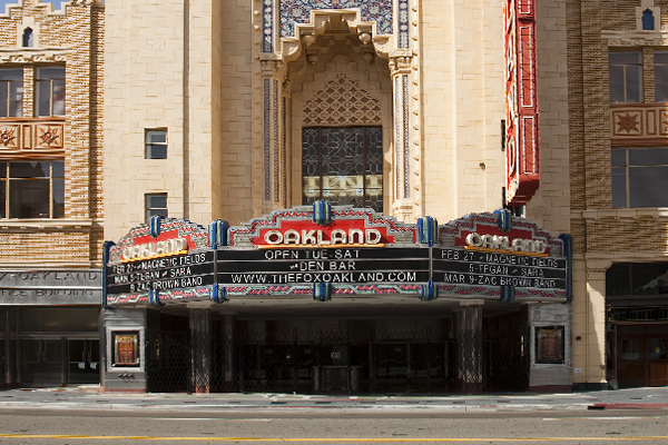 art deco theater marquee, fox oakland marquee