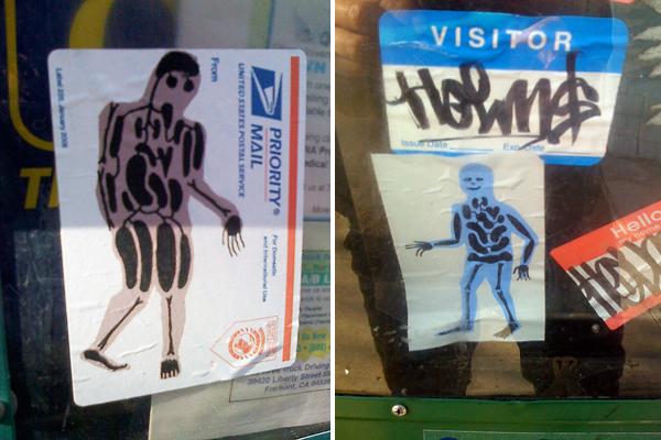 organ guy stickers, xray man stickers, x-ray man stickers
