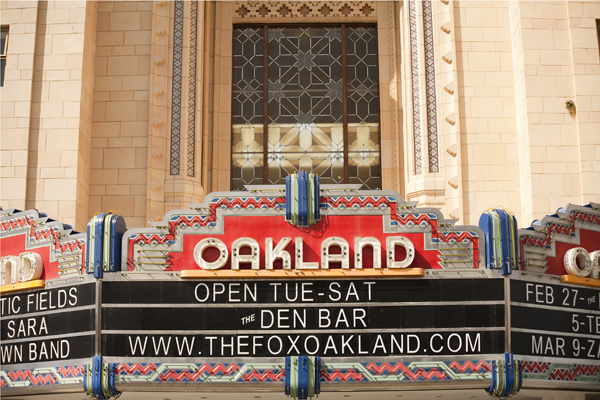 art deco, fox theater oakland, art deco theater marquee