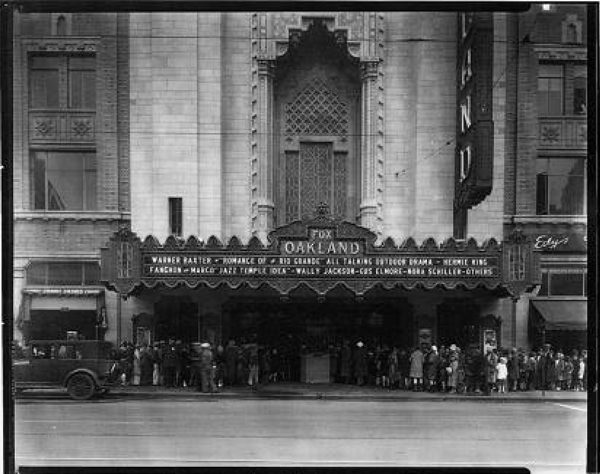 fox theater oakland, historical photo fox theater
