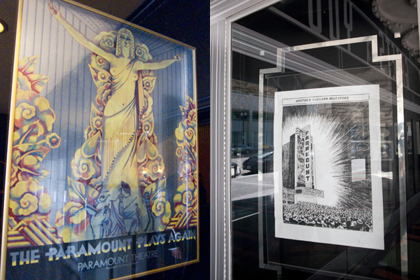 paramount theatre posters, art deco poster