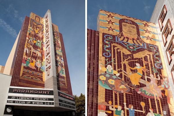 paramount theatre oakland, art deco murals