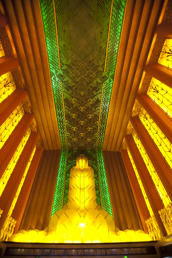 art deco lighting, art deco redwood forest, paramount oakland lobby