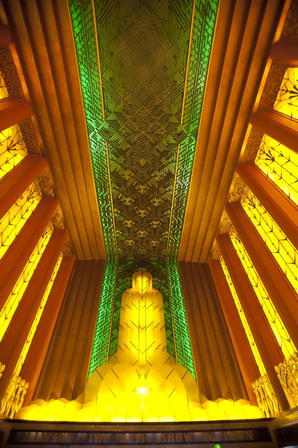 art deco lighting, art deco redwood forest, paramount oakland lobby