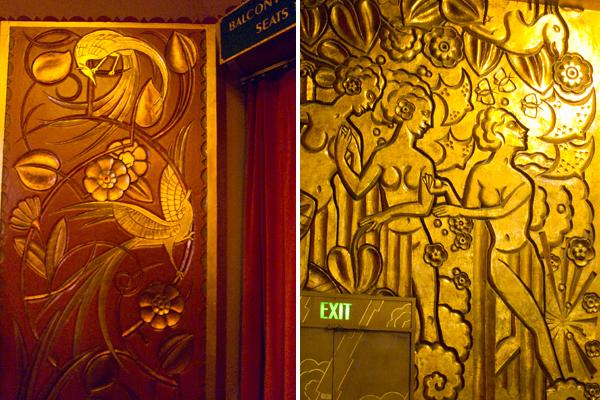 art deco cast plaster, paramount theatre interior
