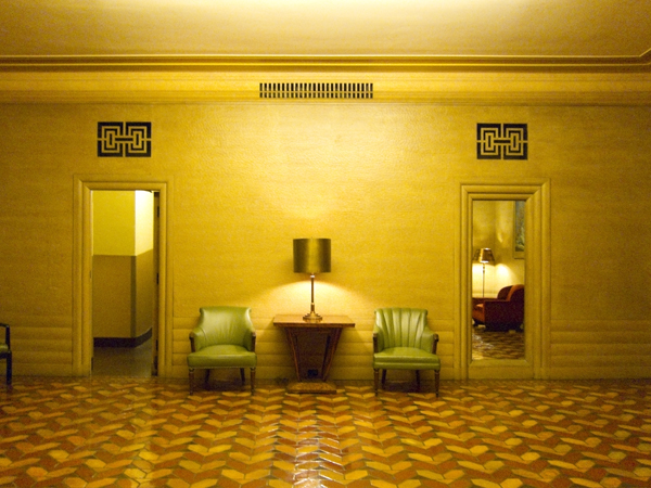 paramount theater downstairs, paramount interior, art deco