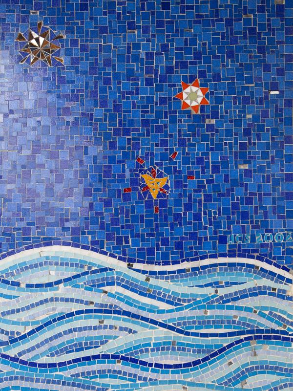 oakland mosaic art, mosaic doorway broadway oakland