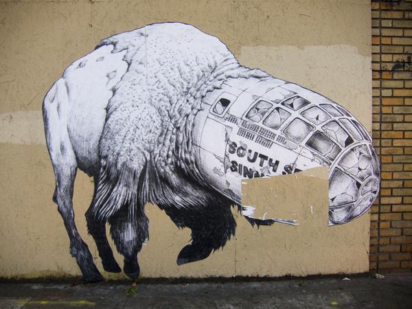 broke, sss, time'll tell, giant buffalo wheatpaste