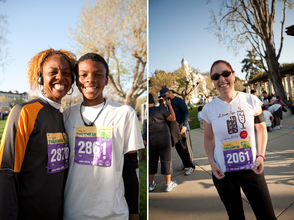 twilight 5k, lake merritt, oakland running festival, mother & son running together