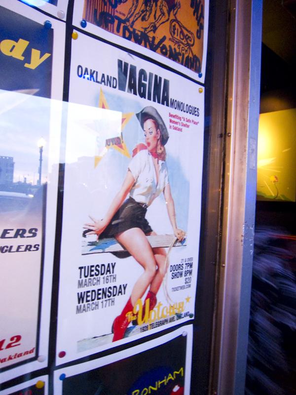 vagina monologues, uptown nightclub