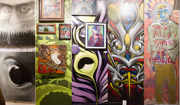 old crow tattoo & gallery, stand tall art show, graffiti art show at old crow