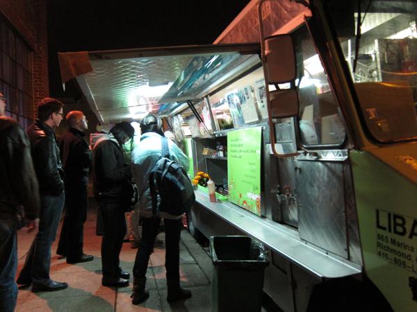 liba falafel, falafel truck oakland, art murmur falafel truck