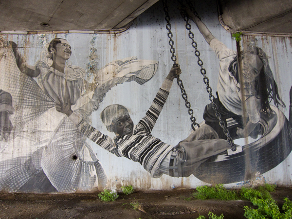 daniel galvez, street tattoo mural, oakland mural art
