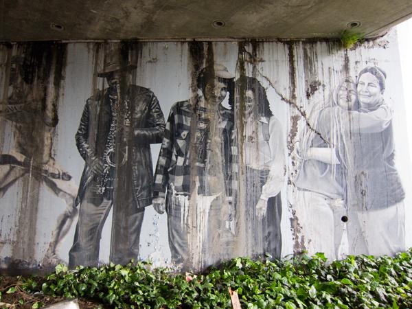 oakland mural art, street tattoo mural