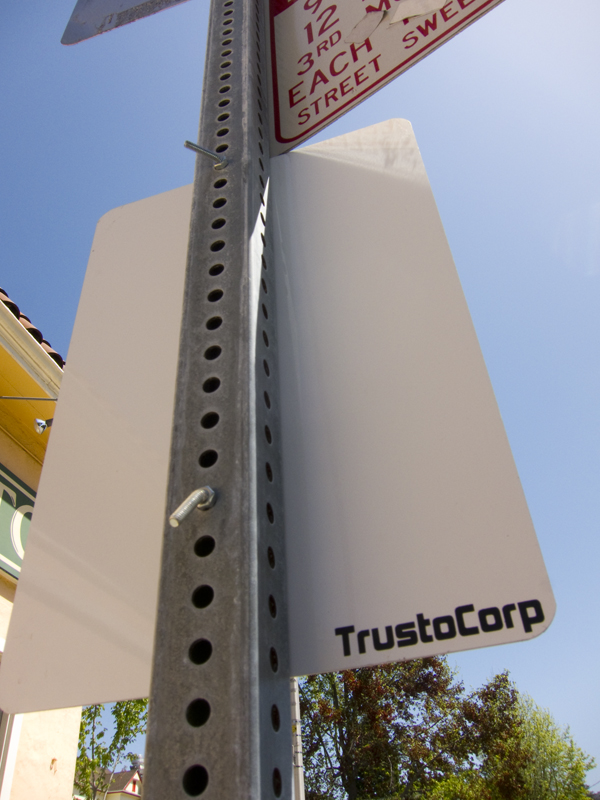 trustocorp sign, trustocorp berkeley, real men use fists