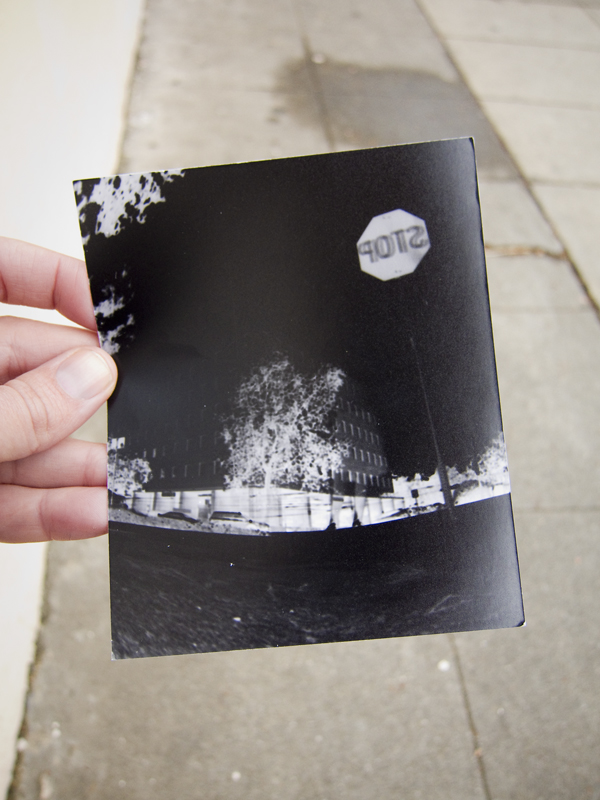 pinhole photo, negative print film