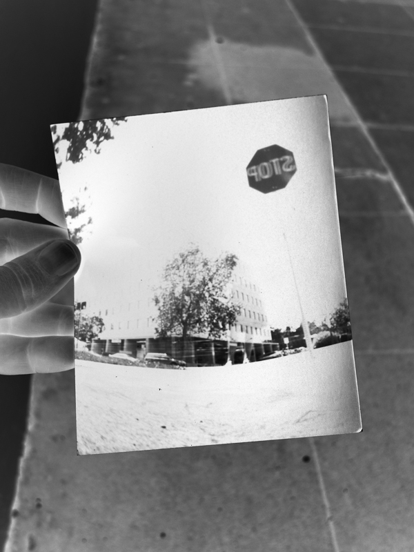 pinhole photography, negative print paper