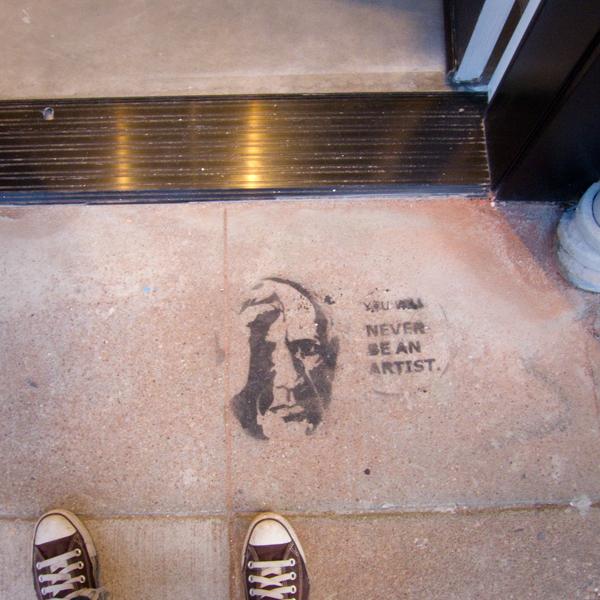 street stencil, graffiti stencil art, oakland art murmur