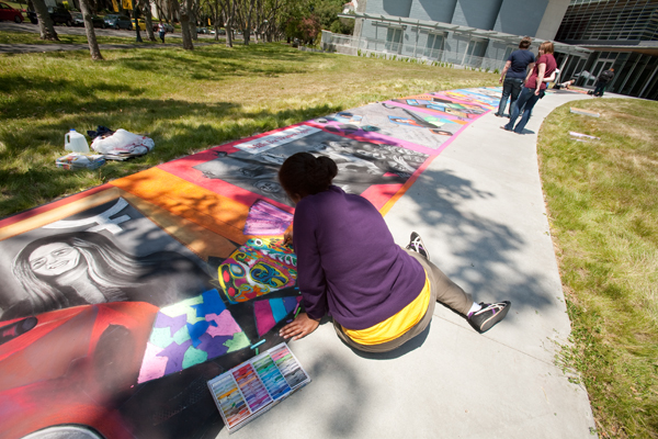 mills college art installation for commencement