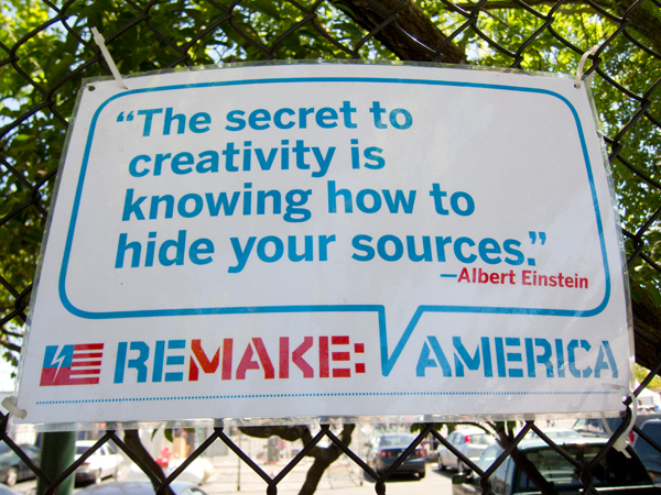 maker faire 2010, albert einstein, secret to creativity