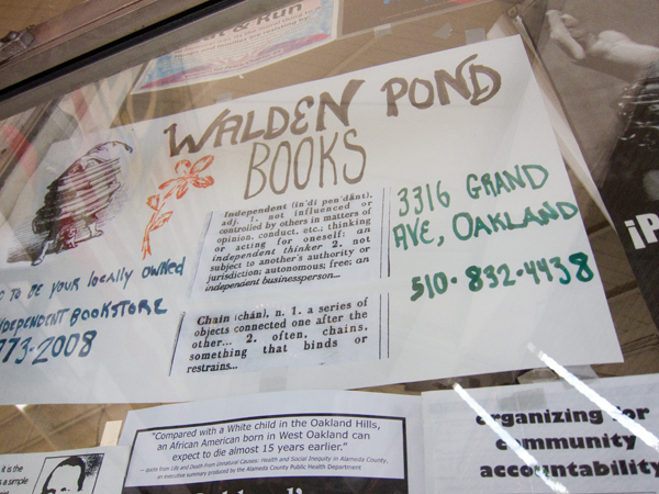 independent vs. chain, independent book stores