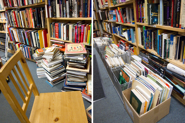books at spectator books, piedmont avenue bookstore