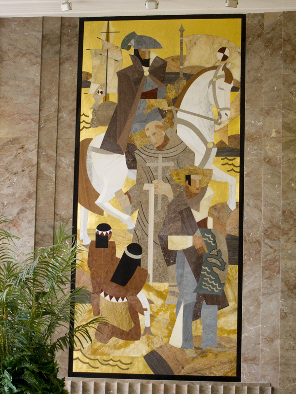 marble mosaic mural, marian simpson marble mural, alameda county courthouse