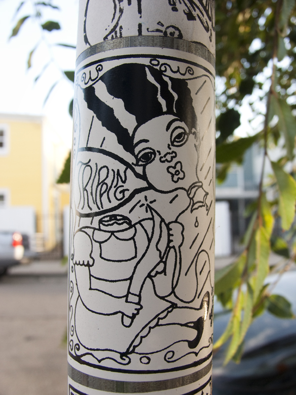 west oakland stickers, stickers by 2am, tripping