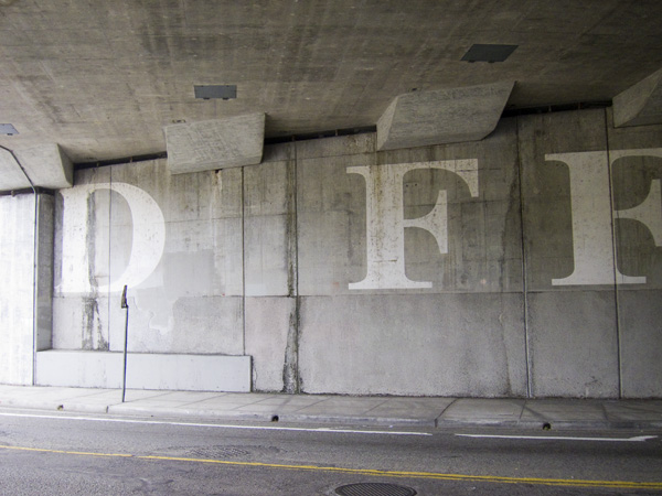 Seyed Alavi, words by roads, giant word murals, east oakland murals