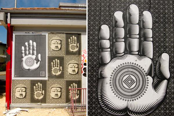 buddha and hand