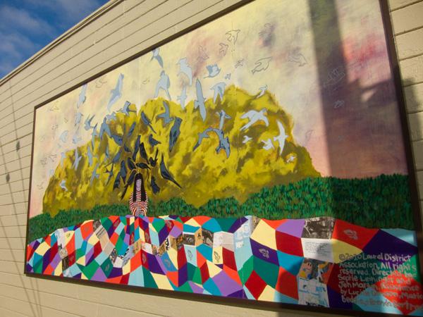 Sophie Leininger, Jen Martin, laurel mural walk