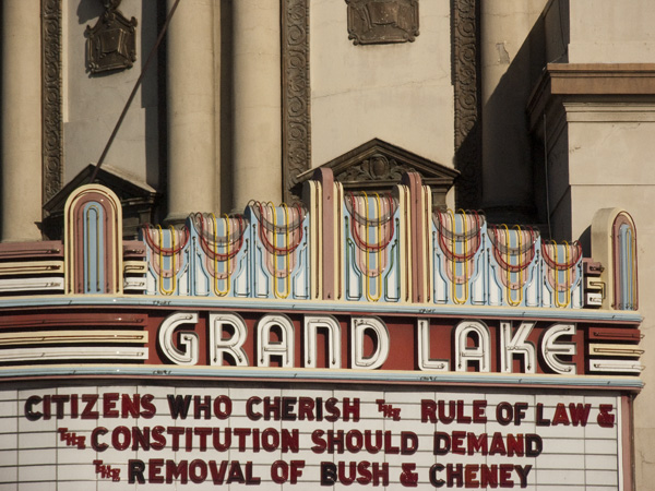 art deco streamline, streamline marquee, bush cheney political rant, grand lake theater politics